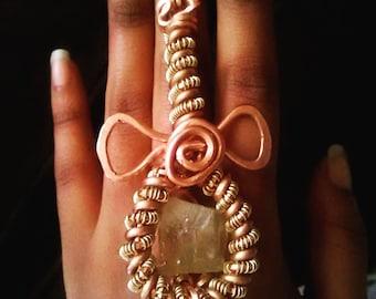 Spiral Ankh Rings
