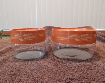 Pyrex Harvest Wheat Canisters
