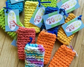 Crocheted Ice Pop Cozy
