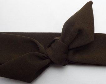 Khaki adult head band hair wrap scarf bandana headwrap
