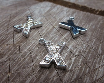 Letter X Pendant Charms ~1 pieces #100609