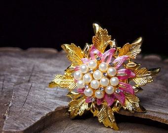 Pearl Flower Brooch #5450