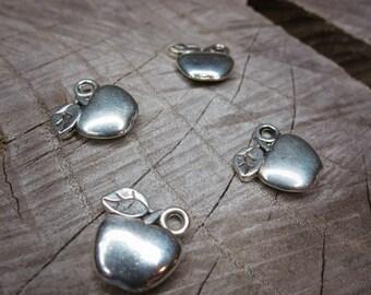 Apple Charm Pendant Charms ~4 pieces #100274