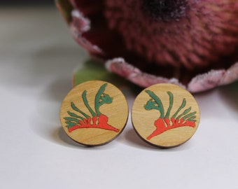 Flower Stud Earrings-Flower Earring Studs-Australian Flower Earrings-Red Flower Studs-Kangaroo Paw Flower Studs-Floral Stud Earrings