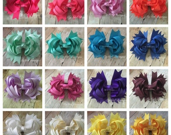 Over the Top White Boutique Bow - Over the Top solid u pick - Over the Top Bow - OTT White Bow - OTT Boutique Hair Bows - OTT Birthday - wed