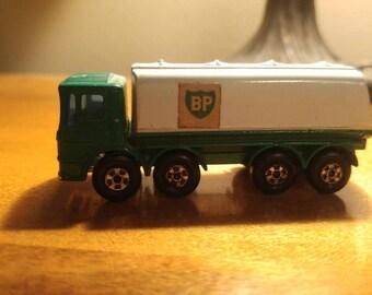 Vintage Diecast BP Lesney England Matchbox Toy Oil Tanker Truck 1960's No.32