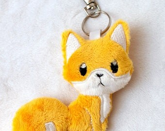 Orange Fox Keychain