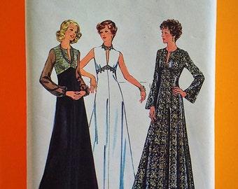 "70s Maxi Dress, Size 16 1/2, Bust 39"", UNCUT, F/F, Style 131."