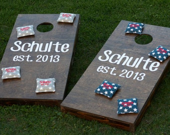 Custom Cornhole Boards & Bags - Bean Bag Toss