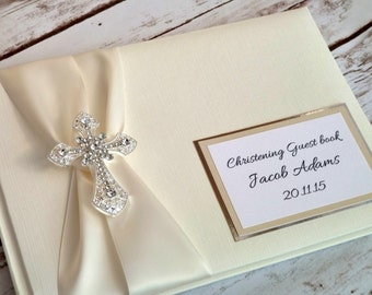 Personalised Christening guest/memory book