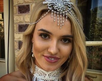 Charlie headpiece couture piece for  Bride magazine