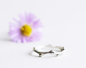 Silver branch ring - Twig ring - Silver jewelry - Little ring -Silver ring