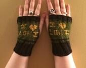 I love Loki inspired Fandom Fingerless Gloves