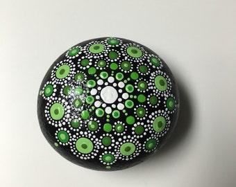 Green mandala stone