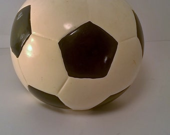 Vintage Hand Painted Ceramic Soccer Ball Bank