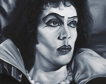 Frank N Furter Oil Painting  Giclee  Art Print - Rocky Horror Picture Show Tim Curry