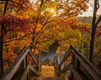 Sunrise at the Scenic overlook in Rocky River - **HIGH-QUALITY** shot by Award Winning Photographer Andrew Gacom