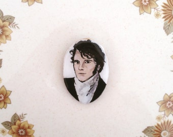 Wearable Art Brooch: Mr Darcy