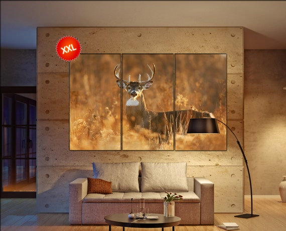 white tail  canvas wall art white tail wall decoration white tail canvas wall art art white tail large canvas wall art  wall decor