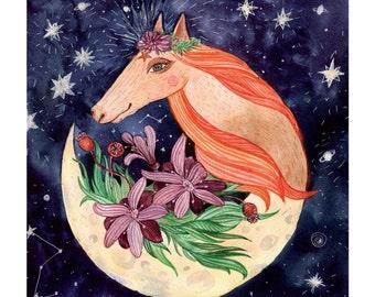 Moon horse. Good night, sweet dreams