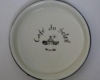 French Enameled Coasters, Set of 12