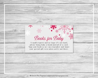 Winter Wonderland Baby Shower Book Instead of Card Insert - Printable Baby Shower Books for Baby - Winter Wonderland Baby Shower - SP115