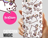 Caticorn iPhone 7 case Cat Unicorn iPhone 6s Plus case catacorn iPhone 6 case S8 S6 S5 case Samsung Galaxy S8 S7 5s 5c kawaii case