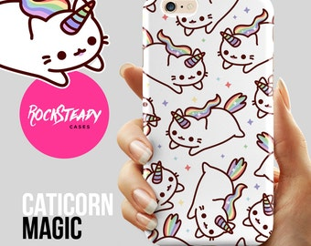 Caticorn iPhone 7 case, Cat Unicorn iPhone 6s Plus case, catacorn iPhone 6 case, S8, S6, S5 case, Samsung Galaxy S8, S7, 5s, 5c, kawaii case