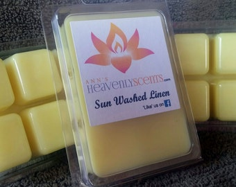 Sun Washed Linen Scented Wax Melt/ Tarts/ Hand Poured