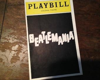 Playbill BEATLEMANIA Shubert Theatre May 1977