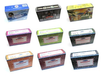 Satya Nag Champa Incense (Box of 12 Packs) - Various scents to choose from.