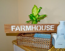 Farmhouse Wooden Sign . Farmhouse Decor . Farmhouse Kitchen.Handmade House Wall Decor.
