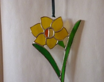 Pretty daffodil Stained Glass suncatcher