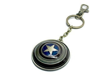 Captain America Shield Avengers Keychain/Literary Necklace/Keyholder/Necklace/Bookmark/Bag Charm/Bracelet
