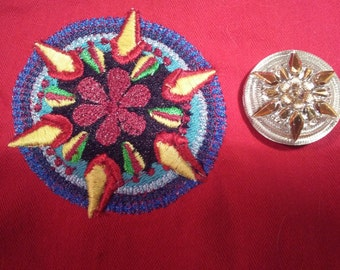 Embroidery replica of your button-Copy my Button on jacket, Sew button on jacket, Show off your buttons, Just Grand Buttons