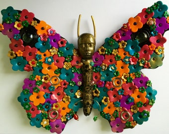 Colorful Butterfly Wall Hanging