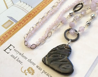 VALENTINE'S DAY SALE: Rose Quartz Love Necklace