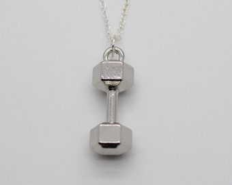 DUMBBELL NECKLACE - Fitness Necklace Workout Necklace Weightlifting Gym Crossfit