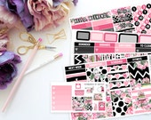 Luxe Vertical Weekly Kit-- Matte Planner Stickers