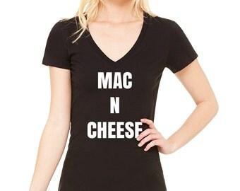 Mac N Cheese V-Neck T-Shirt