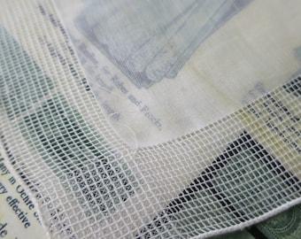 4 Unused Vintage Fine Linen Handkerchiefs- Drawn Threads