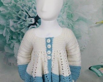 childes crochet top , 4-5 years,  merino wool, ready to ship