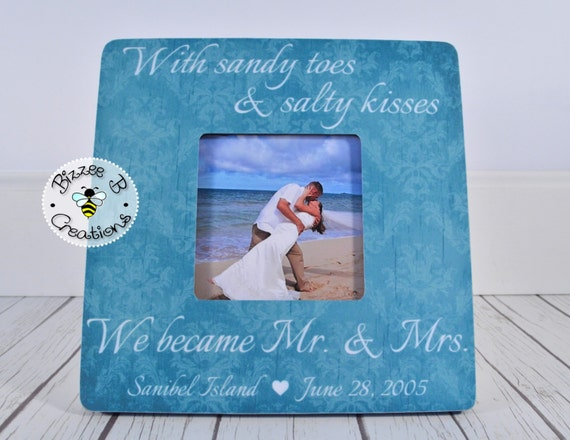 Mrs Mrs Wedding Gifts: Personalized Wedding Gift For Mr & Mrs Beach By