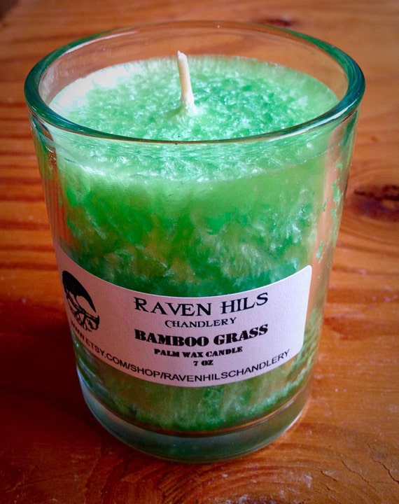 Bamboo grass spa scented candles glass candles glass candles for Spa smelling candles