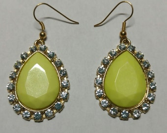 Neon yellow  earring