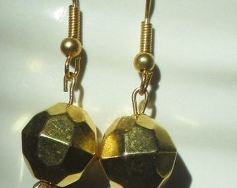 Gold-plated Bicone Beaded Earrings
