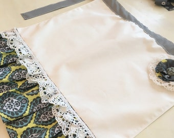 Half apron for women handmade vintage style half apron