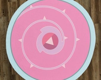 "Rose Quartz / Steven's Shield 60"" Round Microfiber Beach Towel"