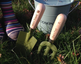 Personalised Gardeners Set - Fork, Trowel and Twine