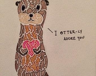 Adoring Otter Card